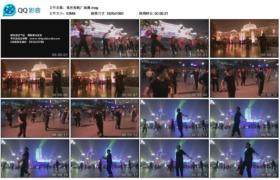 [高清实拍素材]重庆夜晚广场舞