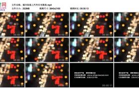 4K视频素材丨城市街道上汽车灯光散焦