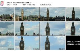 高清实拍视频丨晴空下的英国大本钟延时摄影