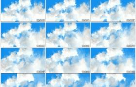 高清实拍视频素材丨蔚蓝的天空上白云流动延时摄影