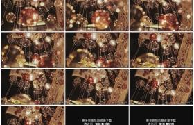 高清实拍视频素材丨带反射的玻璃装饰吊灯