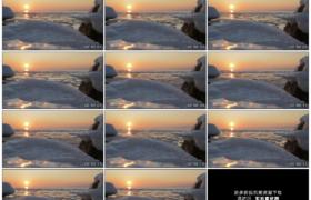 高清实拍视频素材丨阳光照射着海面上的浮冰