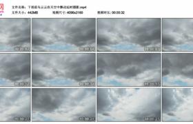 4K实拍视频素材丨下雨前乌云在天空中飘动延时摄影