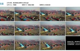 高清实拍视频丨航拍集装运箱码头全景