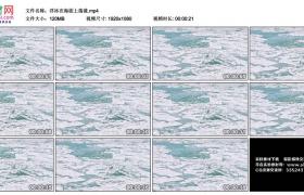高清实拍视频丨浮冰在海面上荡漾