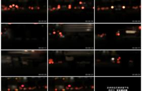 高清实拍视频素材丨夜晚城市交通道路上行驶的车辆尾灯散景