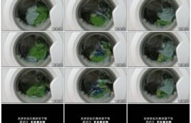 高清实拍视频素材丨特写洗衣机洗衣转动