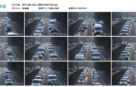 高清实拍视频丨国外交通-马路上缓慢行驶的车流