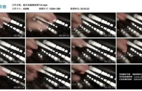 【高清实拍素材】敲击电脑键盘特写4