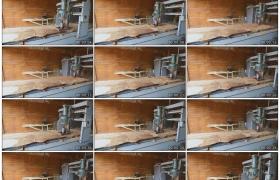 高清实拍视频素材丨木产品加工厂打磨木材