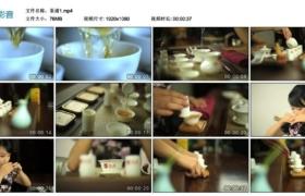 【高清实拍素材】茶道1