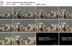 4K实拍视频素材丨阳光照射下繁忙的塔吊 城市建设延时摄影