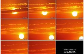 4K实拍视频素材丨日落时分夕阳从天空中缓缓落下延时摄影