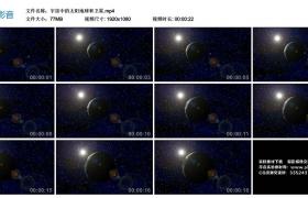 高清实拍视频丨宇宙中的太阳地球和卫星