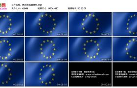 高清动态视频丨飘动的欧盟旗帜