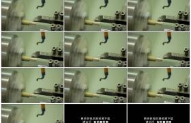 高清实拍视频素材丨工厂内数控车床金属切削加工工艺