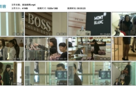 【高清实拍素材】商场购物