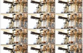 高清实拍视频素材丨特写用玻璃杯从咖啡机接咖啡