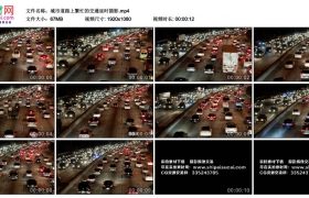 高清实拍视频丨城市道路上繁忙的交通延时摄影