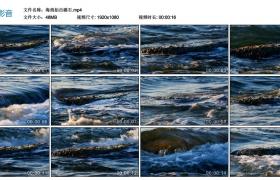 【高清实拍素材】海浪拍击礁石