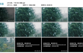 【高清实拍素材】下雨 雨水 雨滴