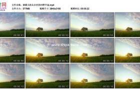 4K实拍视频素材丨清晨太阳从乡村的田野升起