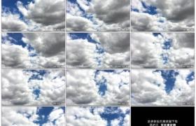 高清实拍视频素材丨蓝蓝的天空上白云流动延时摄影