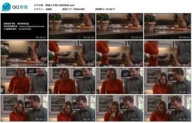 【高清实拍素材】慢镜头外国夫妻两做饭