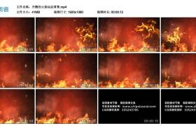 高清动态视频丨升腾的火焰动态背景