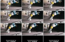 高清实拍视频素材丨特写用真空吸尘器清洁汽车内饰
