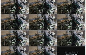 高清实拍视频素材丨特写用机器打磨锯齿