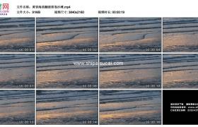 4K实拍视频素材丨黄昏海浪翻滚席卷沙滩