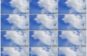 高清实拍视频素材丨晴天湛蓝的天空中白色的云彩流动延时摄影