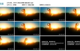 【高清实拍素材】夕阳中人物运动剪影-瑜伽-跑步