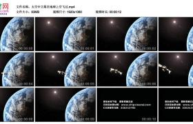 高清实拍视频丨太空中卫星在地球上空飞过