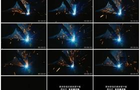 高清实拍视频素材丨特写电焊焊接金属火花四溅