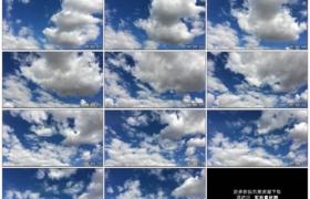 高清实拍视频素材丨蓝天上空白云飘动延时摄影