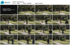 [高清实拍素材]外国小孩骑车
