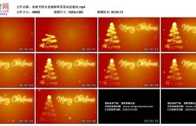 高清动态视频素材丨圣诞节快乐圣诞树和雪花动态素材