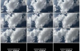 高清实拍视频素材丨蓝蓝的天上白云流动延时摄影