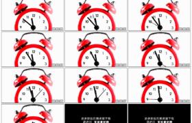 高清实拍视频素材丨特写红色闹钟指针转动延时摄影