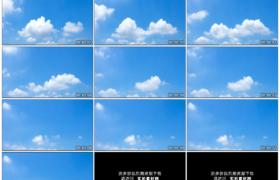 4K实拍视频素材丨晴天湛蓝的天空中白云涌动