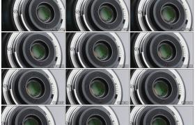 高清实拍视频素材丨摇摄相机镜头的金属触点端