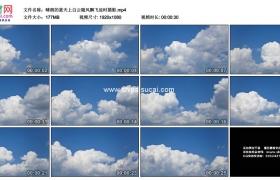 高清实拍视频素材丨晴朗的蓝天上白云随风飘飞延时摄影