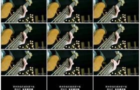 4K实拍视频素材丨特写吉他手弹奏吉他