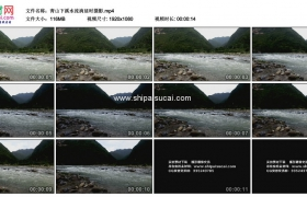 高清实拍视频素材丨青山下溪水流淌延时摄影