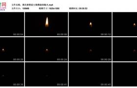 高清实拍视频丨黑色背景前火柴燃烧到熄灭