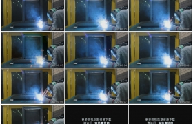 高清实拍视频素材丨电焊工焊接金属发出刺耳的声音冒着耀眼的火花
