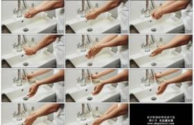 4K实拍视频素材丨特写放水清洗双手