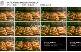 4K实拍视频素材丨烤箱内部拍摄烤制面点全过程延时摄影